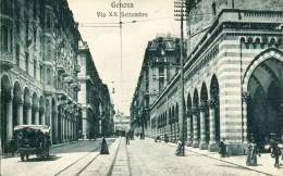 Genova  Via XX Settembre  Cpa - Genova (Genoa)