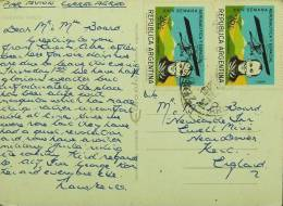 Argentina - Beautiful Postcard To England 1970 Consonant Pair Of Aviation 26c - Argentina