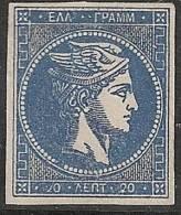 GRECIA 1863/68 - Yvert #21 - MLH * (Rare!) - 1861-86 Gran Hermes