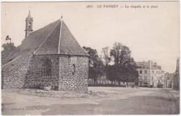 1670-France 56-Le Faouet La Chapelle Et La Place-Collec H Laurent Port Louis Ref 2885 - Le Faouet