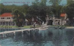 Wisconsin Delavan Lake Log Cabin 1913