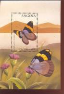 ANGOLA  1022  MINT NEVER HINGED SOUVENIR SHEET OF BUTTERFLIES   ( - Butterflies