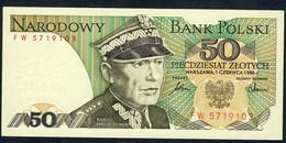 POLAND   P142c  50  ZLOTYCH   1986 #FW     UNC. - Poland