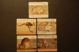 AUSTRALIA 5 VALORI USATI DI ANIMALI - Australia