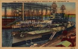 Royaume-Uni - Battleships And Destroyers At Norfolk Navy Yard PORTSMOUTH. Va - (Bateaux De Guerre). - (voir Scan). - Portsmouth