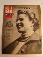 REVUE / CINE REVUE / N° 17  DE 1953 / INGRID BERGMAN + PLUIE DE VEDETTES AU FESTIVAL DE CANNES - Magazines