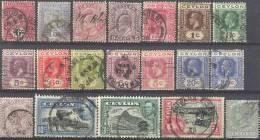 _Zm121:  Restje :19 Zegels : .... Om Verder Uit Te Zoeken... - Ceilán (...-1947)