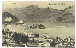 CARTOLINA - PAESAGGIO MONTANO PANORAMA DI STRESA - VIAGGIATA NEL 1917 ( RACCOLTA R. GABRIELLI ) ZONA DI GUERRA - Verbania