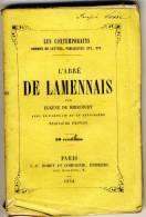 L'ABBE DE LAMENNAIS     - LES CONTEMPORAINS Par Eugène De Mirecourt . - Biographie