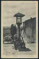 FIESOLE - S. Francesco - Croce E Piazzale Della Chiesa --- PACE E BENE On Back Side Of Postcard - Italia