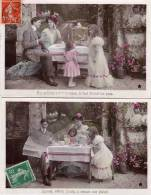 2 CPA - Enfants Et Parents - Journal, Oiseau,jouets...     (54197) - Sonstige