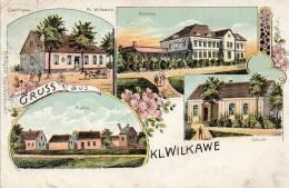 Gruss Aus Kl Wilkawe Wilkow  Gasthaus 1900 Postcard - Polen