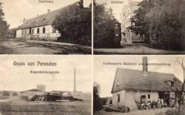 Gruss Aus Peruschen Wohlau Wołow Kergers Braunkohlgruben & Gasthaus 1910 Postcard - Polen