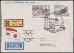 Austria 1964, Registred Airmail Cover Wien To Tokio, Special Postmark - Aéreo