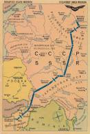 AVIATION CIVILE - 1959 - CARTE / AFFICHE PUBLICITAIRE : COMPAGNIE MALEV / HONGRIE - ROUTES En EUROPE (n-606) - 1946-....: Modern Era