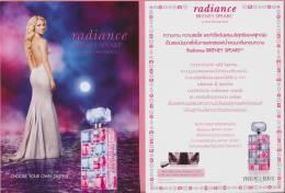 F - Carte Type Postale BRITNEY SPEARS - Radiance   Perfume Card - Thaïlande - Perfume Cards
