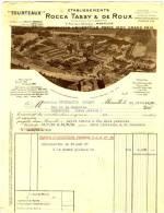 """MARSEILLE  9 Rue De L'Arsenal. Ets ROCCA TASSY Et DE ROUX   """" Tourteaux""""..   A4 - Agriculture"""