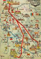 AVIATION CIVILE - 1964 - CARTE / AFFICHE PUBLICITAIRE : COMPAGNIE MALEV / HONGRIE - ROUTES En EUROPE (n-177) - 1946-....: Moderne