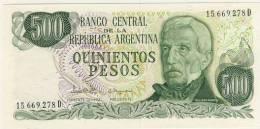 BILLET # ARGENTINE # 1984 # 500 PESOS # QUINIENTOS PESOS  # GENERAL SAN MARTIN - Argentine
