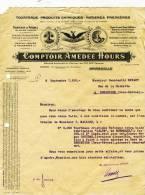 """MARSEILLE  37 Bd Des Chartreux """" Tourteaux"""" Farines Fourrages  Comptoir Amédée Hours.   A4 - Agriculture"""