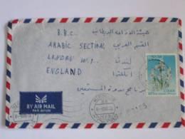 LIBYA AIRMAIL COVER TO BBC  LONDON 1965 ERA - Liberia