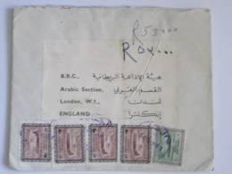 SAUDI ARABIA COVER TO BBC LONDON 1965 Era   5 Stamps! - Saudi Arabia