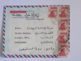IRAQ COVER TO BBC LONDON 1965 ERA 5 STAMPS! - Iraq