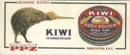 Buvard Réf.021. Kiwi - Cirage De Luxe - Wash & Clean