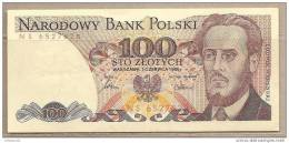 Polonia - Banconota Circolata QFdS Da 100 Zloty P-143e.1 - 1986 - Poland