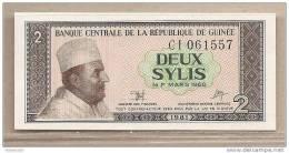 Guinea - Banconota Non Circolata Da 2 Sylis - 1981 - Guinea