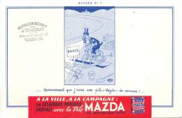 Buvard Réf.032. Pile Mazda - Piles