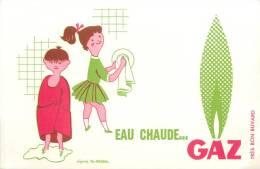 Buvard Réf.041. Eau Chaude Gaz - D'après Fix Masseau - Electricity & Gas