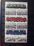 Treinen / Trains - Complete Serie - Sao Tomé E Principe 1988 (1) - 6 Stamps - Trains