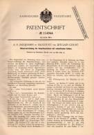Original Patentschrift - A. Jacquemin In Saucourt Par Doulaincourt , 1899 , Contrôle Pour Machines à Vapeur !!! - Historische Dokumente