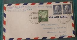 FIRST FLIGHT COVER Erstflug  TAA  Darwin Sydney   Europa  #2036 - First Flight Covers