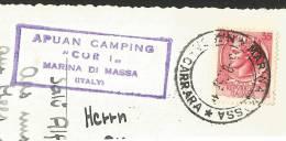 MARINA DI MASSA Torre FIAT APUAN Camping Toscana Massa 1957 - Massa