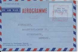 Australia Aerogramme Sent To Denmark Kensington 22-9-1961 With Archive Holes - Aerogrammes