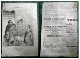"""France - HONORE DAUMIER, LITOGRAPHIE From Newspapers """"LE CHARIVARI"""" About 1830/50 Ties. HISTORIE ANCIENNE - Lithographies"""