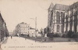 CHALONS SUR MARNE - Square Et Le Rue De Marne 1919 Dép51 (petite Animation Magasin De Chaussures) - Châlons-sur-Marne
