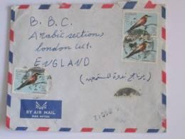 LIBYA AIRMAIL COVER TO BBC  LONDON 1965 ERA BIRD STAMPS - Libya
