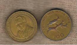 TANZANIA -  100 Shilling 1994  KM32 - Four Impalas Running - Tanzanía