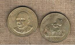 TANZANIA -  200 Shilling 1998  KM34 - Two Lions - Tanzanie