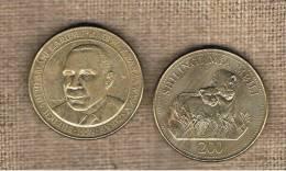 TANZANIA -  200 Shilling 1998  KM34 - Two Lions - Tanzanía