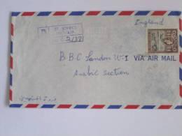 ANTIGUA REGISTERED AIRMAILW ST JOHNS COVER TO BBC  LONDON 1965 ERA - Antigua And Barbuda (1981-...)