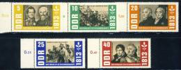 """1963 GDR Complete MNH (**)  Set Of 5 Stamps """" Fight For Freedom  """"  Michel  988-92 - [6] Democratic Republic"""