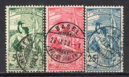 Switzerland, 1900;  UPU MiNr 71-73, Used (2) - Complete Set - Catalogue Value: 45 Euro - Oblitérés