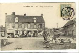 Carte Postale Ancienne Blainville - Le Village De Gonneville - Hôtel Restaurant Leboulanger - Blainville Sur Mer