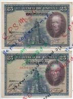 Billet 25 Pesetas Veinticinco - 15 Aout 1928 - CALDERON DE LA BARQUA - [ 2] 1931-1936 : République