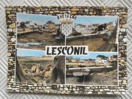 """Belle CPSM Multivues Colorisée:  """"LESCONIL""""    Ed° Du Moulin - Lesconil"""