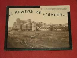 """CHARLEROI  - Charbonnages De Monceau-Fontaine - """"Je Reviens De L'enfer """" - Nouveau Triage-lavoir De Monceau - 2 Scans - Charleroi"""